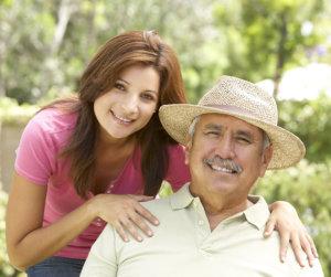 grandpa and his caregiver